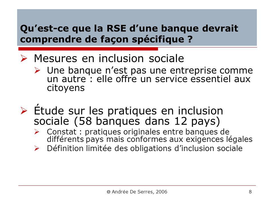 Mesures en inclusion sociale