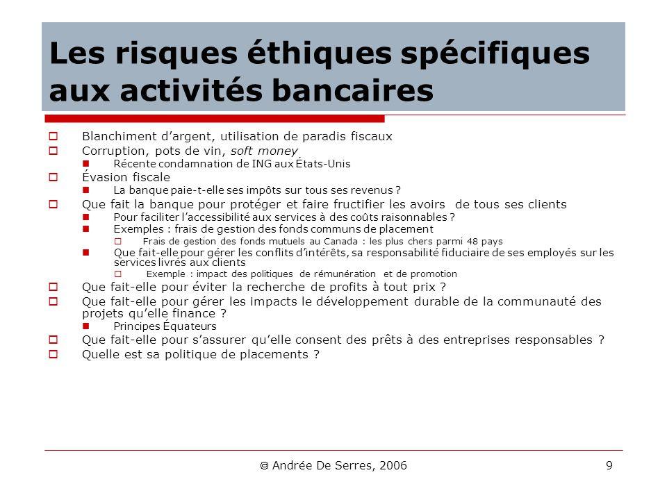 Les risques éthiques spécifiques aux activités bancaires