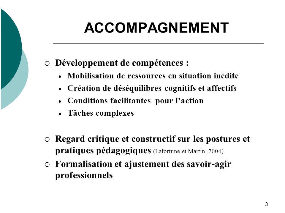 ACCOMPAGNEMENT Développement de compétences :