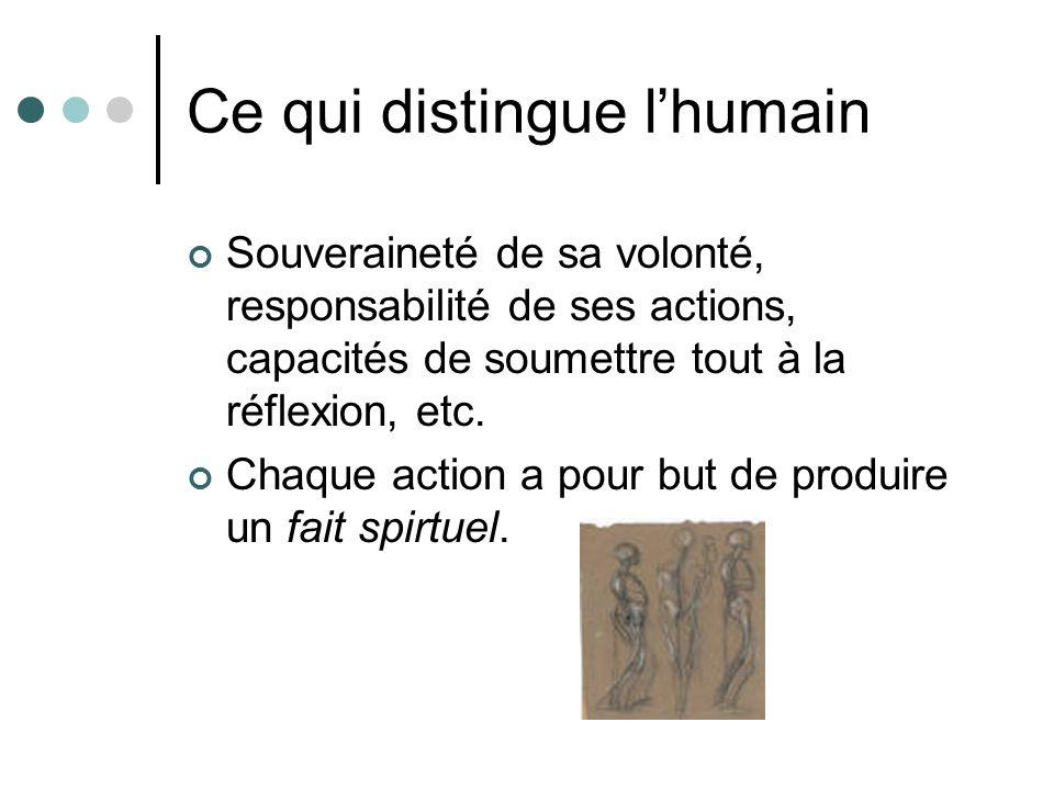 Ce qui distingue l'humain