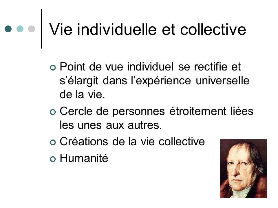 Vie individuelle et collective