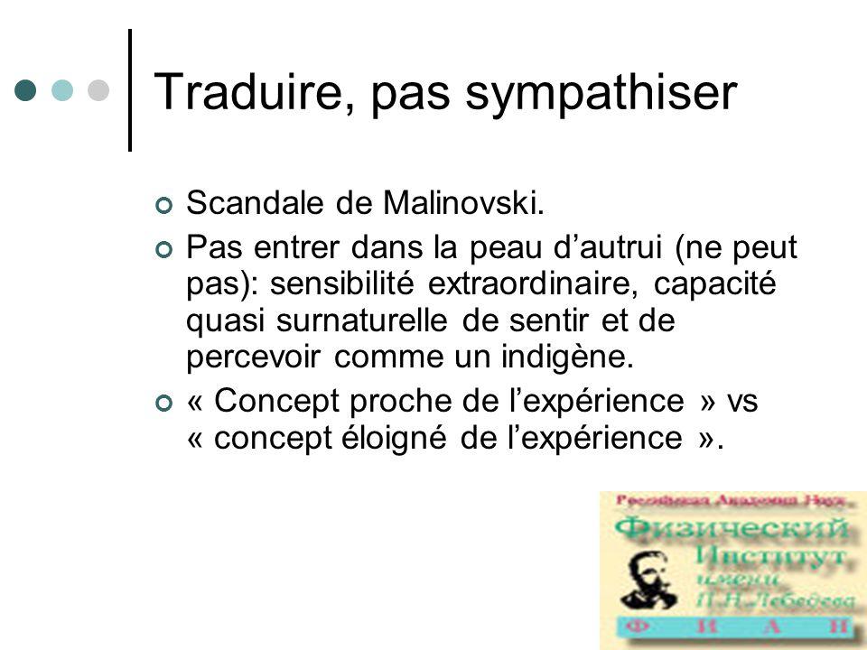 Traduire, pas sympathiser