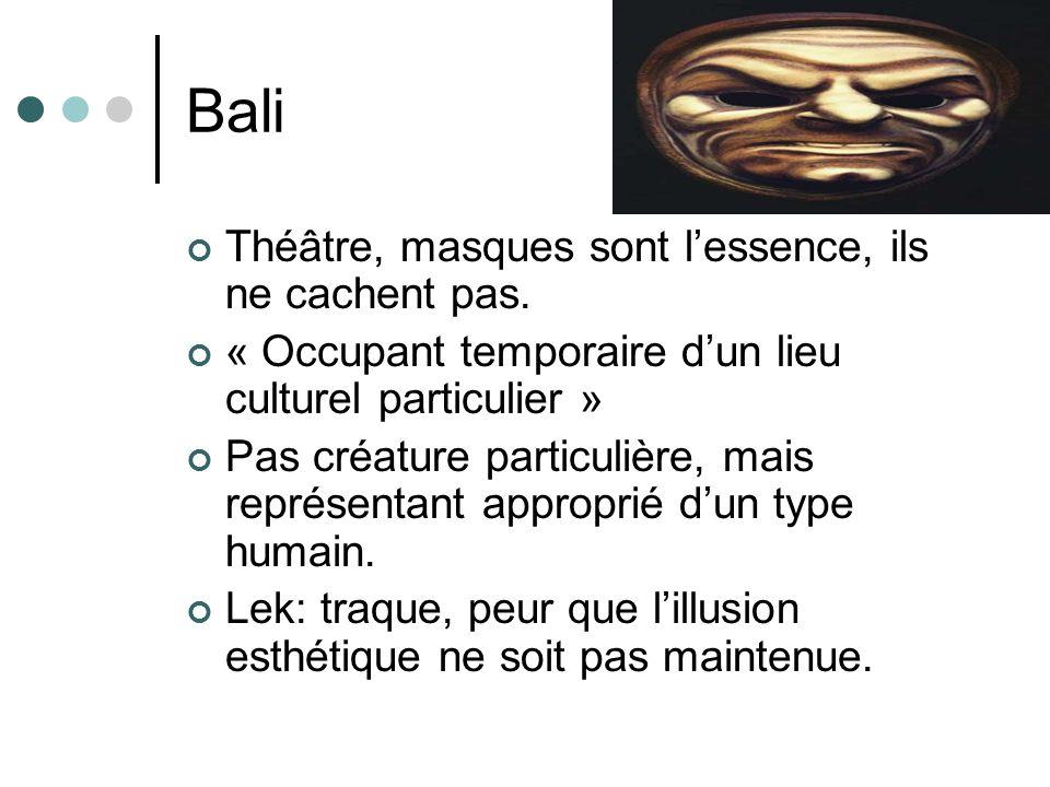 Bali Théâtre, masques sont l'essence, ils ne cachent pas.