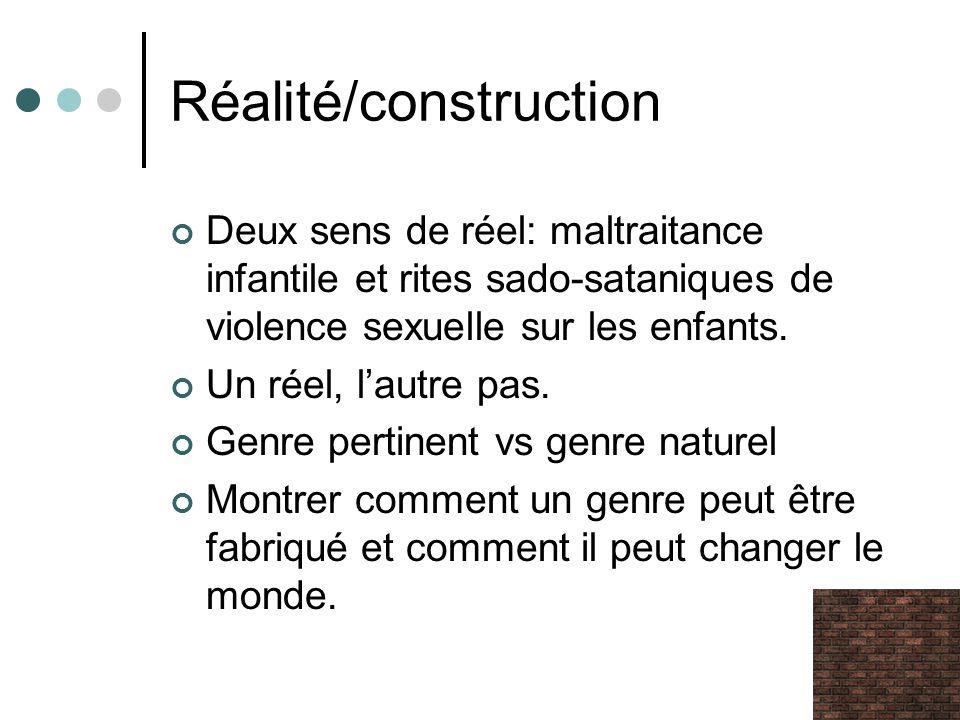 Réalité/construction