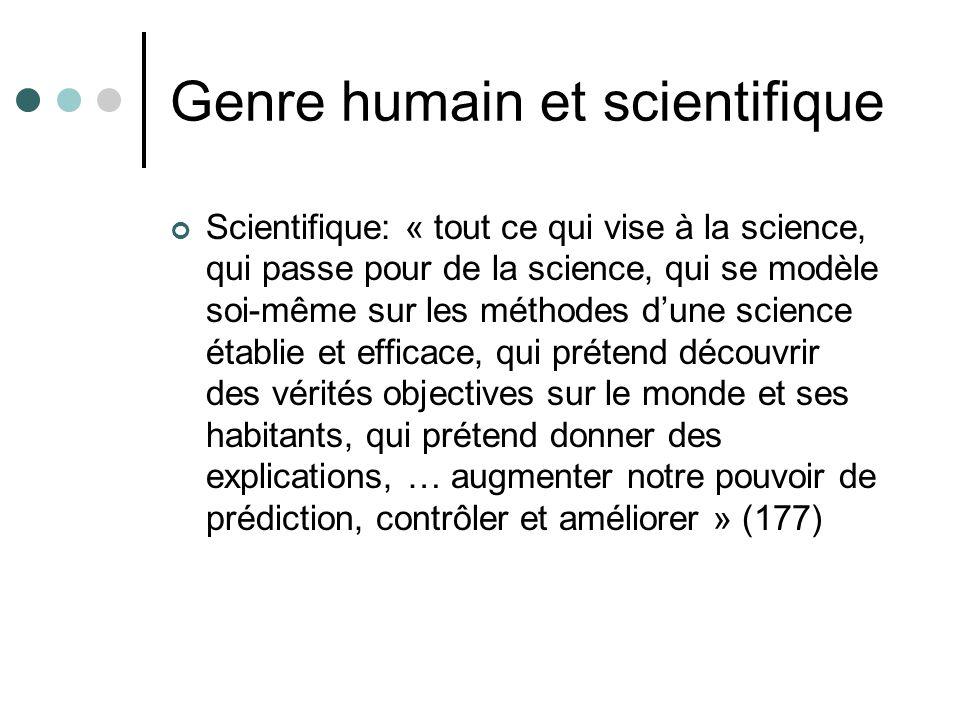 Genre humain et scientifique