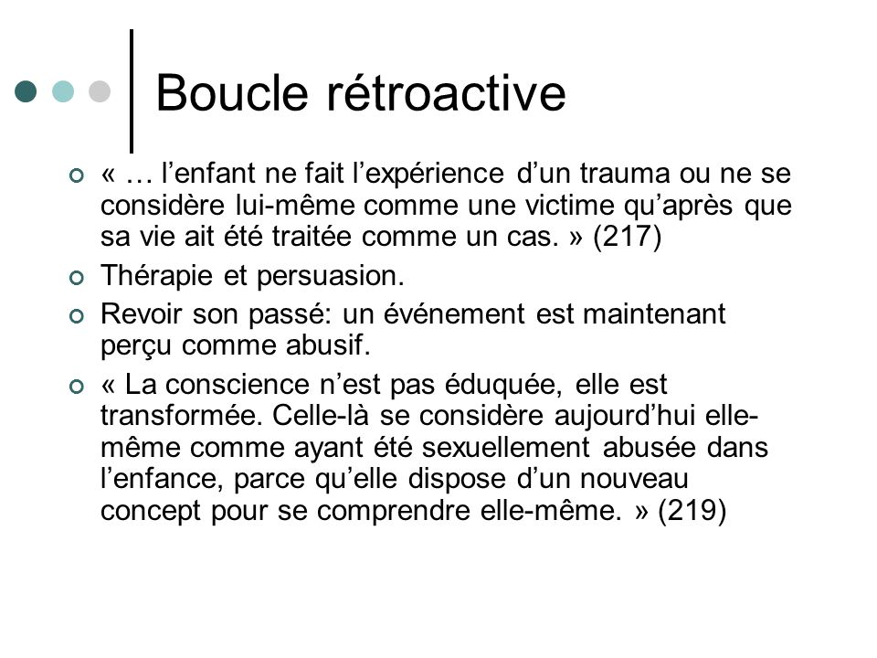 Boucle rétroactive