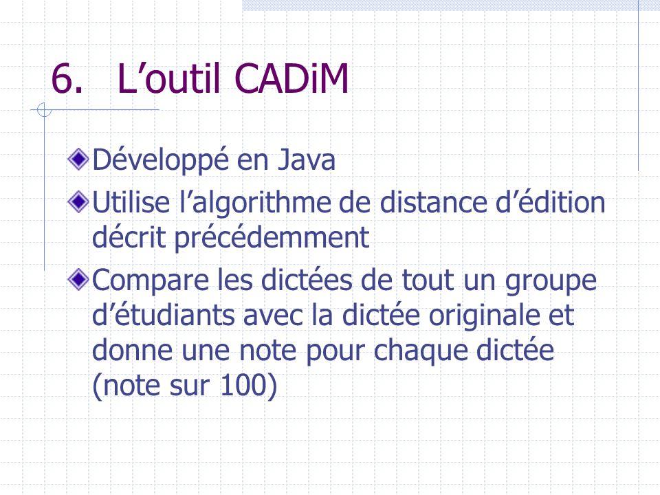 6. L'outil CADiM Développé en Java