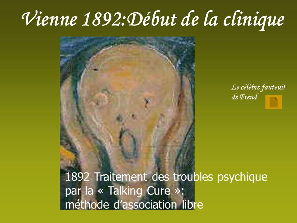 Vienne 1892:Début de la clinique