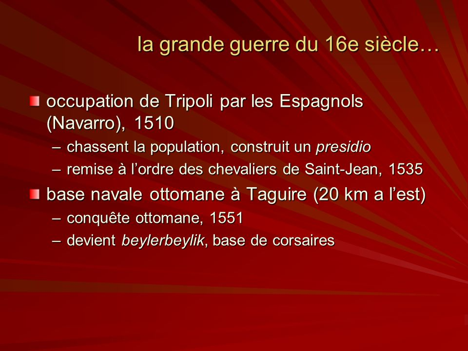 la grande guerre du 16e siècle…