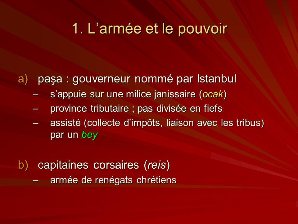 1. L'armée et le pouvoir paşa : gouverneur nommé par Istanbul