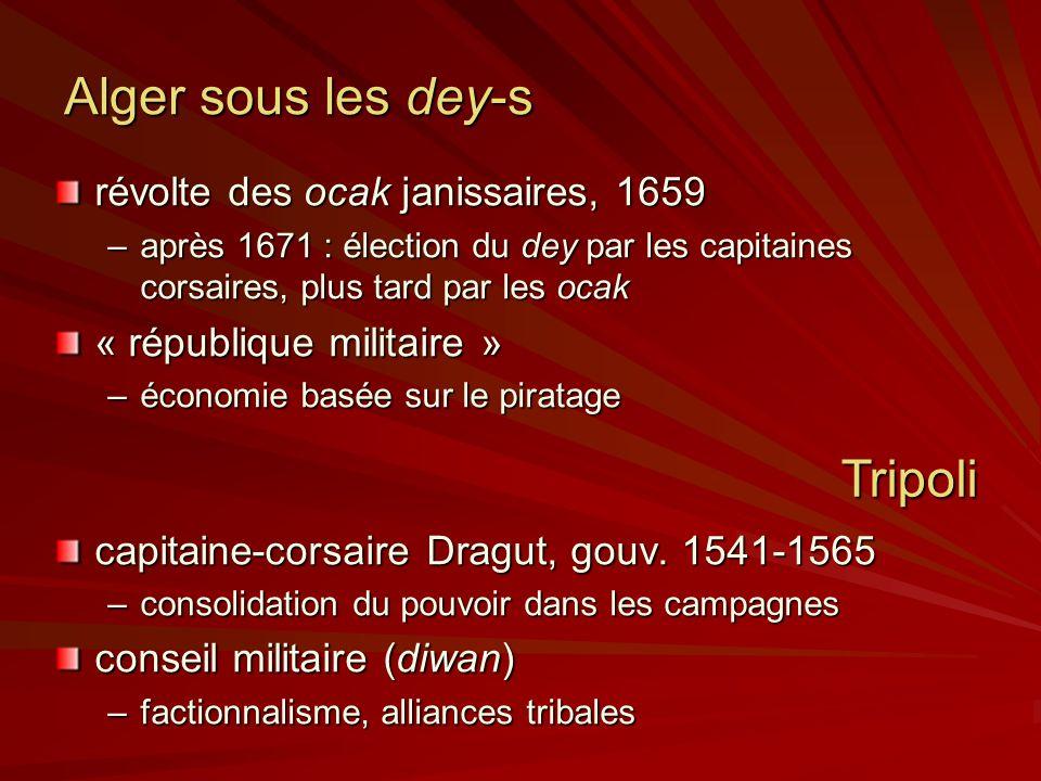 Alger sous les dey-s Tripoli révolte des ocak janissaires, 1659
