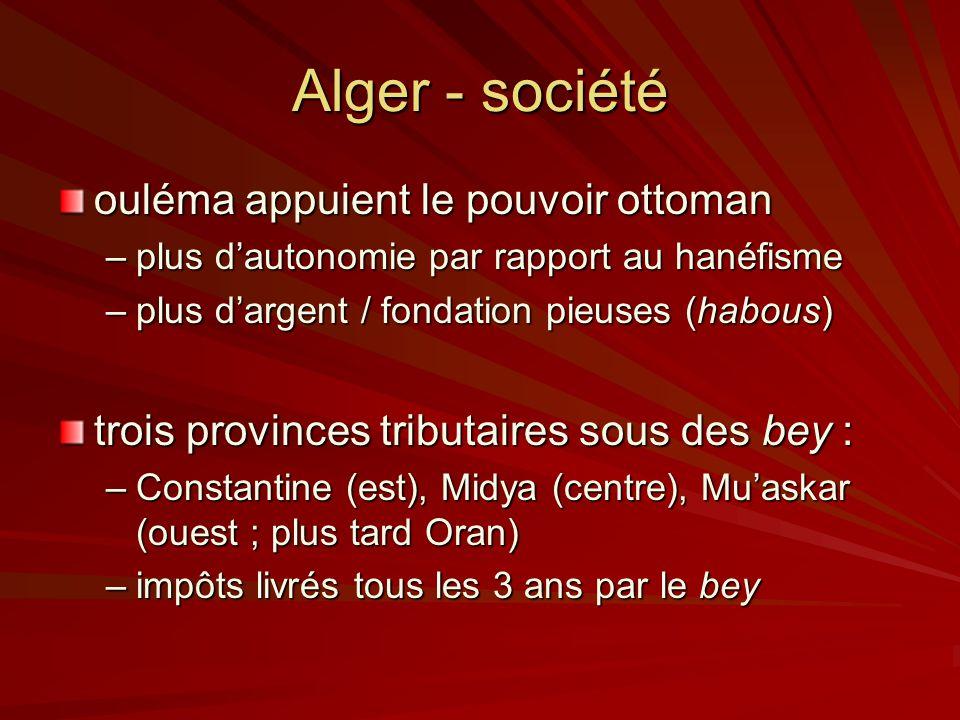 Alger - société ouléma appuient le pouvoir ottoman
