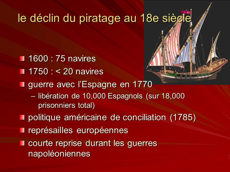 le déclin du piratage au 18e siècle