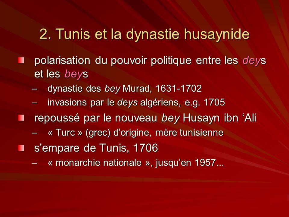 2. Tunis et la dynastie husaynide