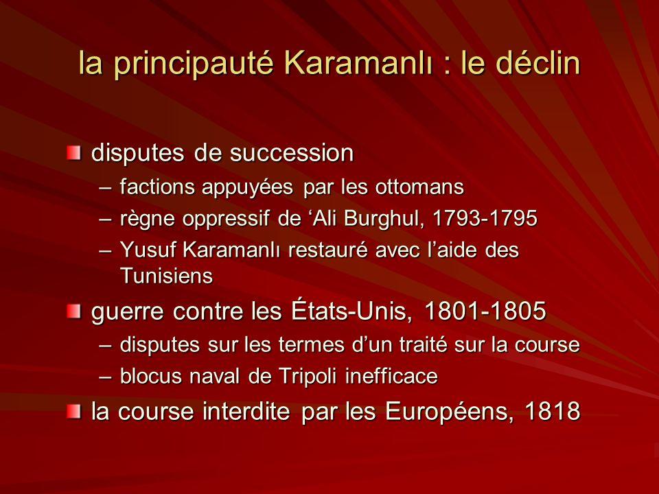 la principauté Karamanlı : le déclin