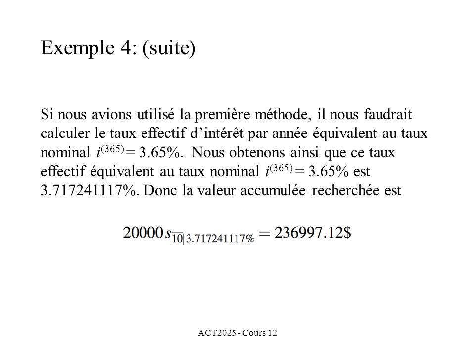 Exemple 4: (suite)