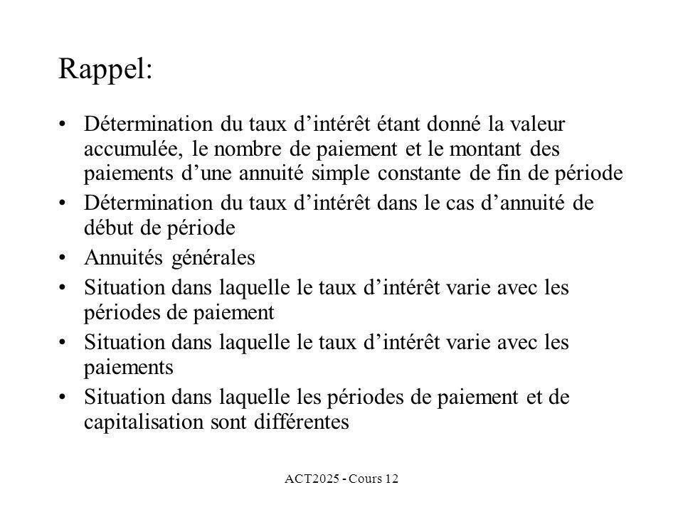 Rappel: