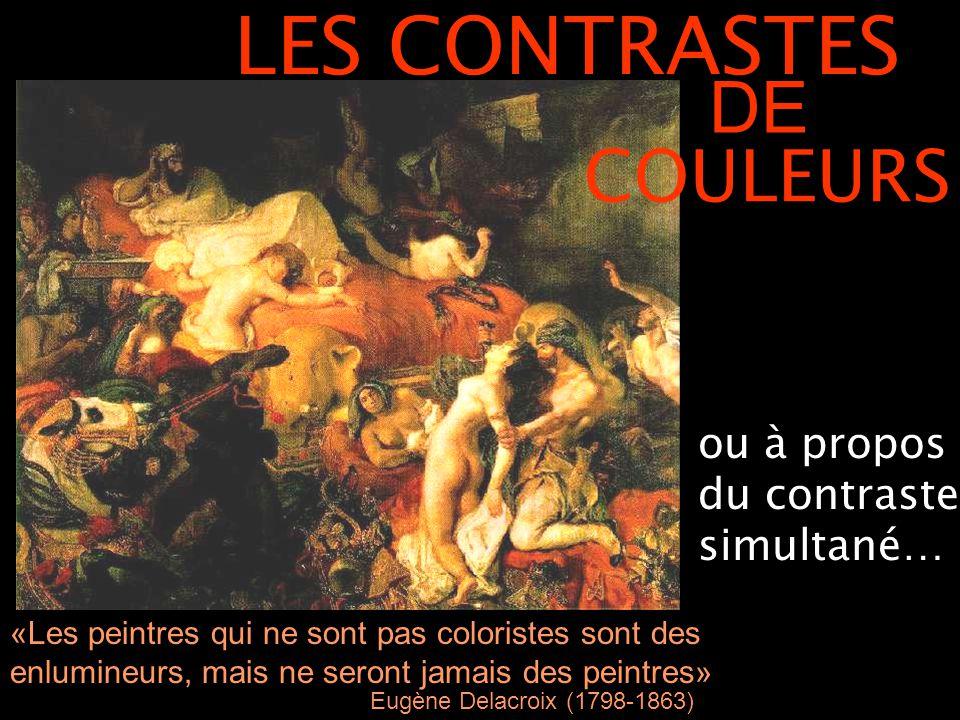 LES CONTRASTES DE COULEURS ou à propos du contraste simultané…