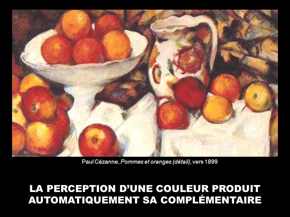 LA PERCEPTION D'UNE COULEUR PRODUIT AUTOMATIQUEMENT SA COMPLÉMENTAIRE