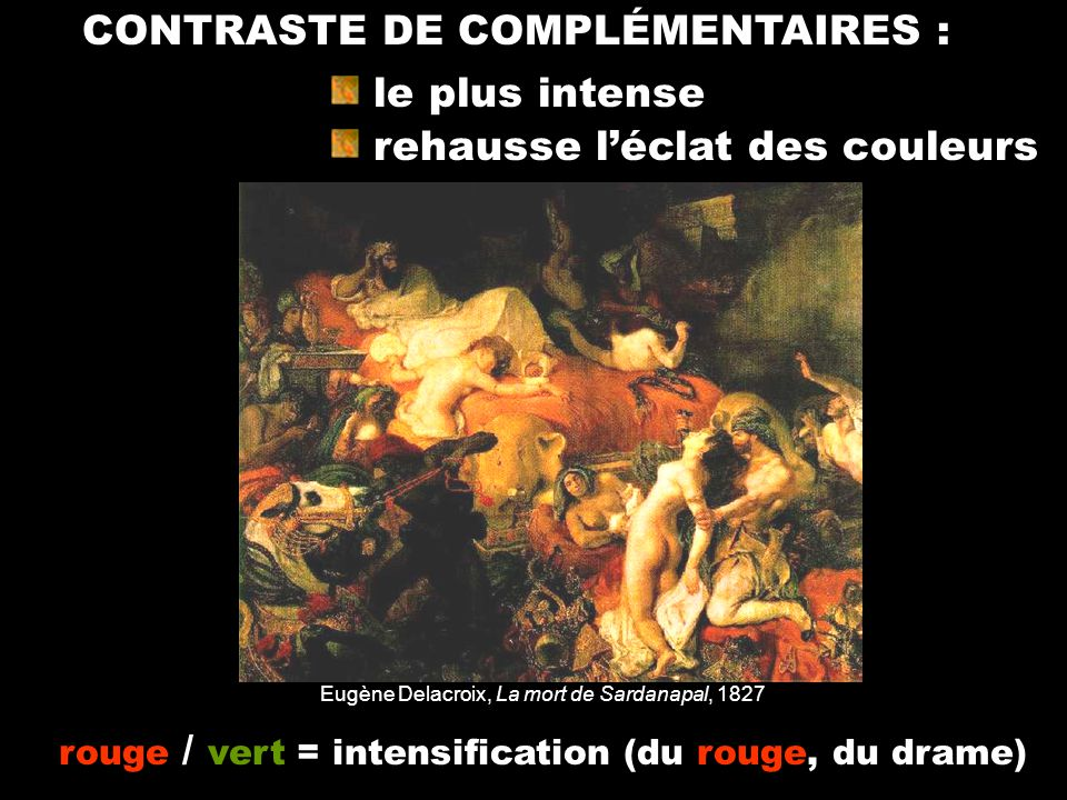 CONTRASTE DE COMPLÉMENTAIRES :