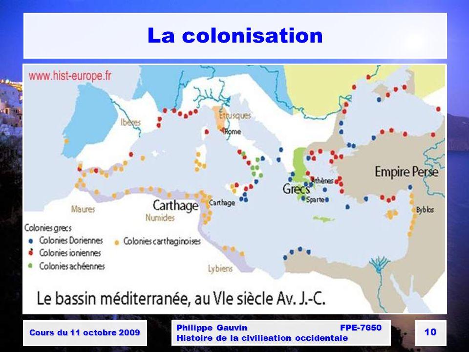 La colonisation Philippe Gauvin FPE-7650