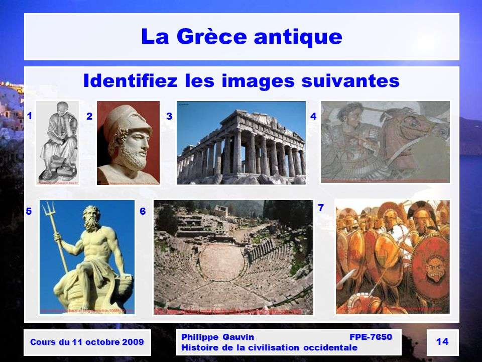 Identifiez les images suivantes