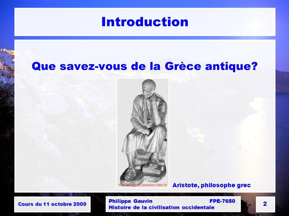 Que savez-vous de la Grèce antique