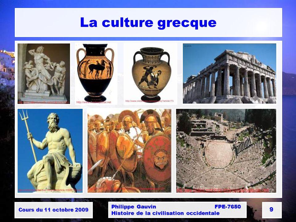La culture grecque Philippe Gauvin FPE-7650