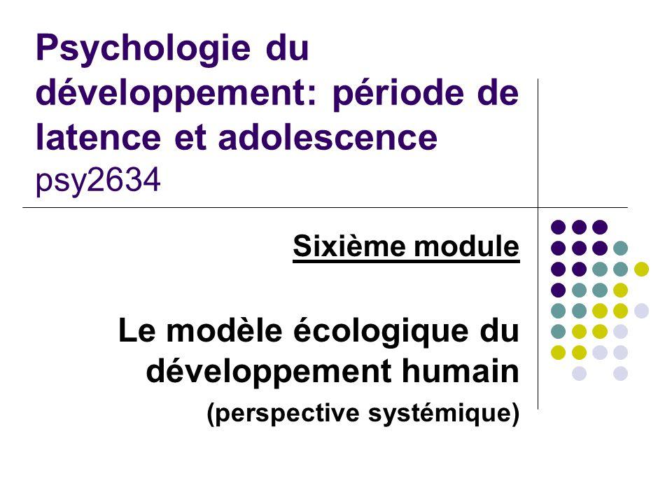 Psychologie du développement: période de latence et adolescence psy2634