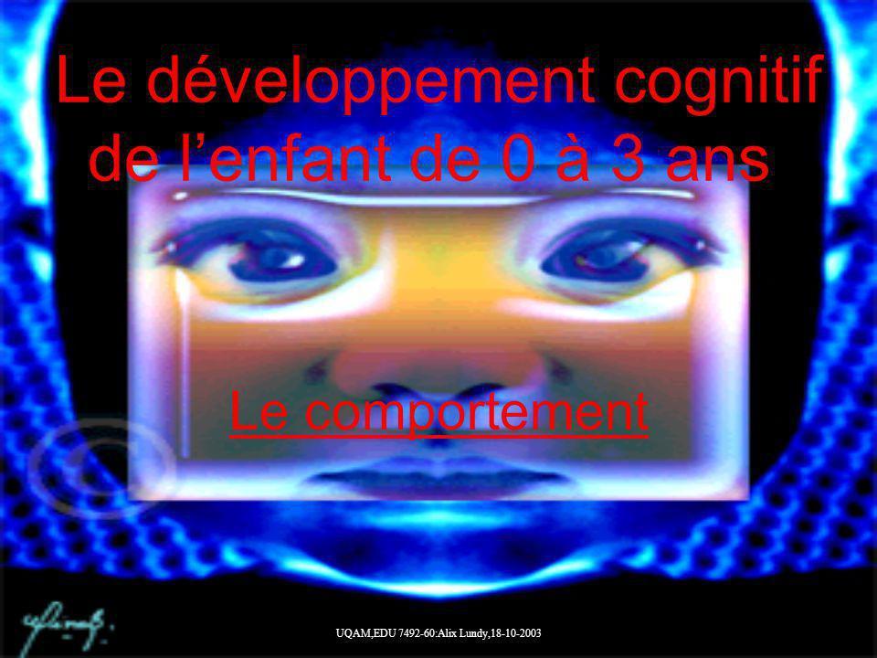 Le développement cognitif de l'enfant de 0 à 3 ans.