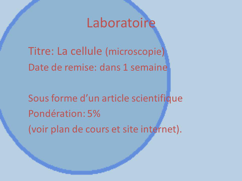Laboratoire Titre: La cellule (microscopie)