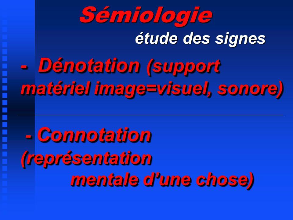 Sémiologie étude des signes.