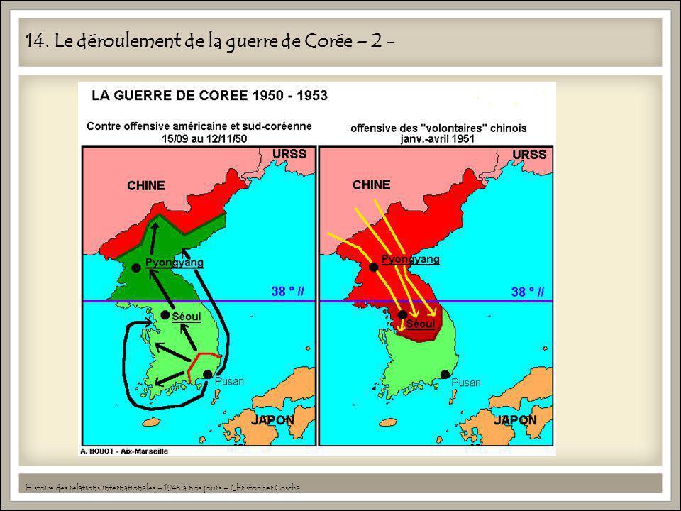 14. Le déroulement de la guerre de Corée – 2 -