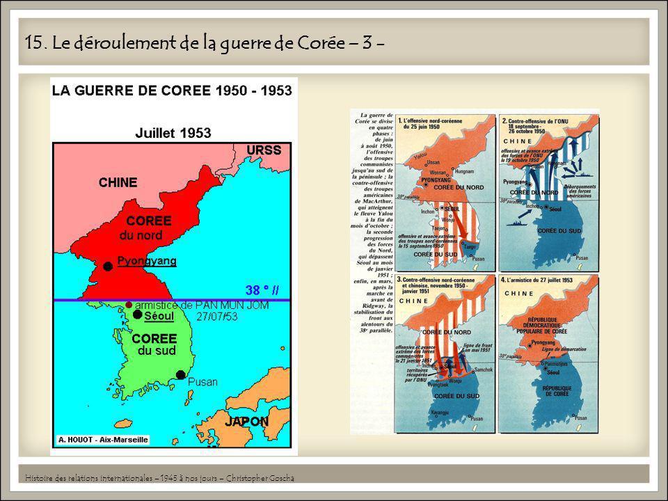 15. Le déroulement de la guerre de Corée – 3 -