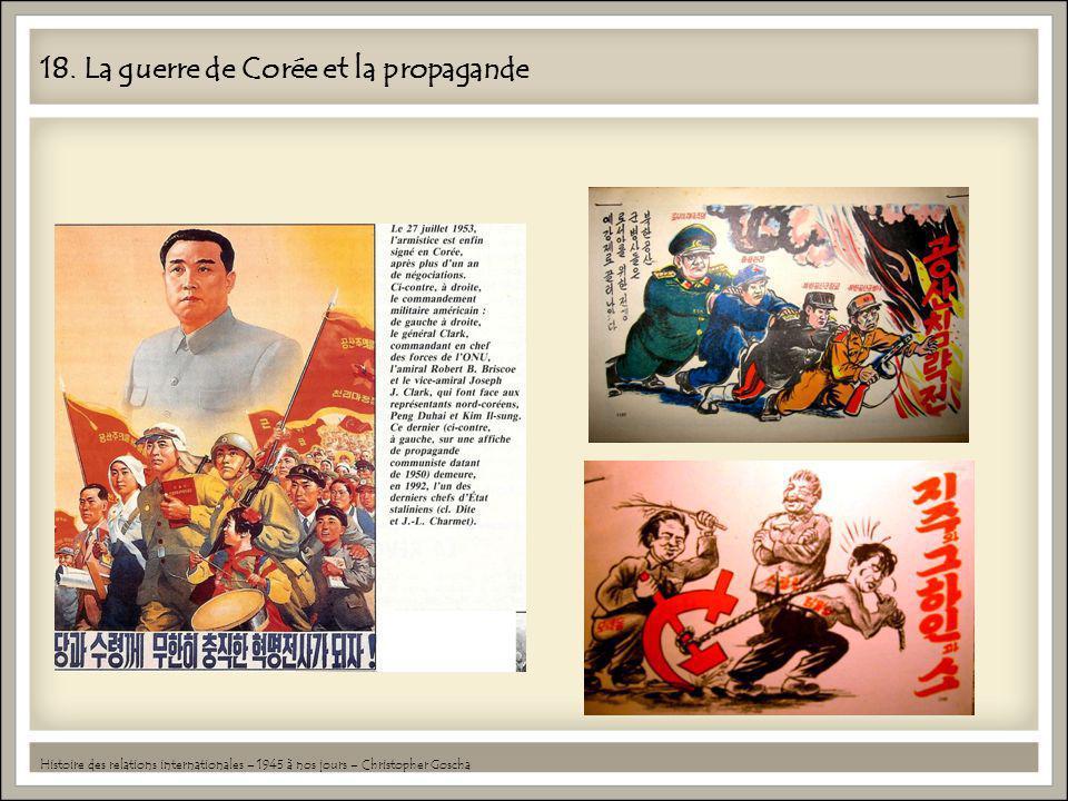 18. La guerre de Corée et la propagande
