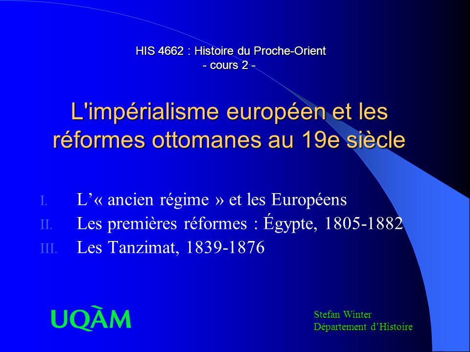 L'« ancien régime » et les Européens