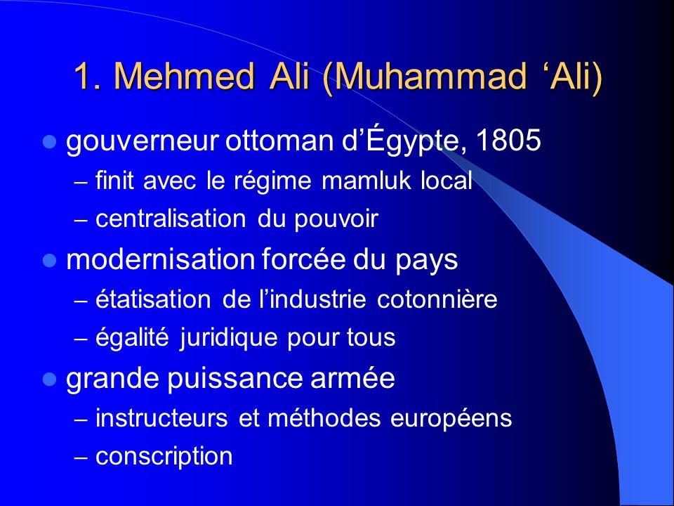1. Mehmed Ali (Muhammad 'Ali)