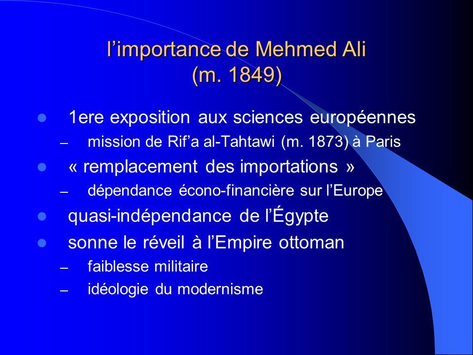l'importance de Mehmed Ali (m. 1849)