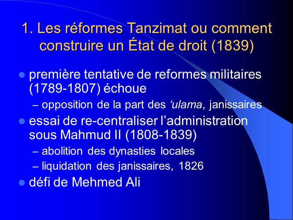 1. Les réformes Tanzimat ou comment construire un État de droit (1839)