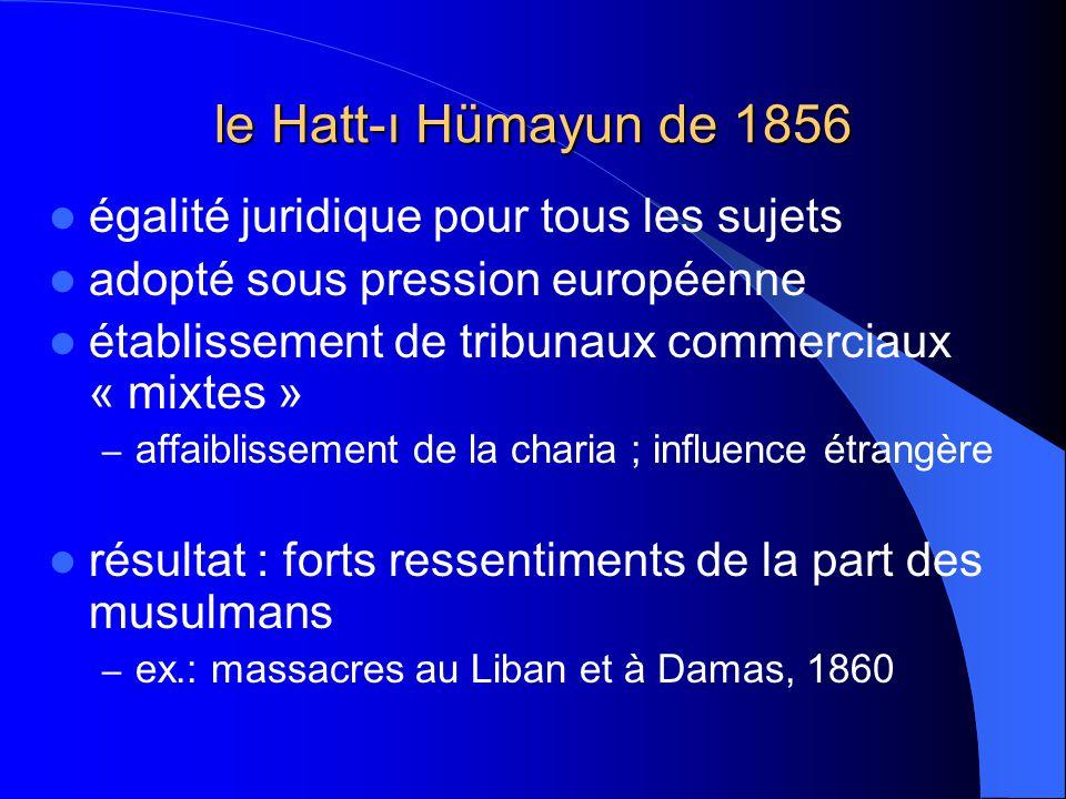 le Hatt-ı Hümayun de 1856 égalité juridique pour tous les sujets