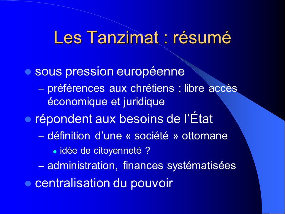 Les Tanzimat : résumé sous pression européenne