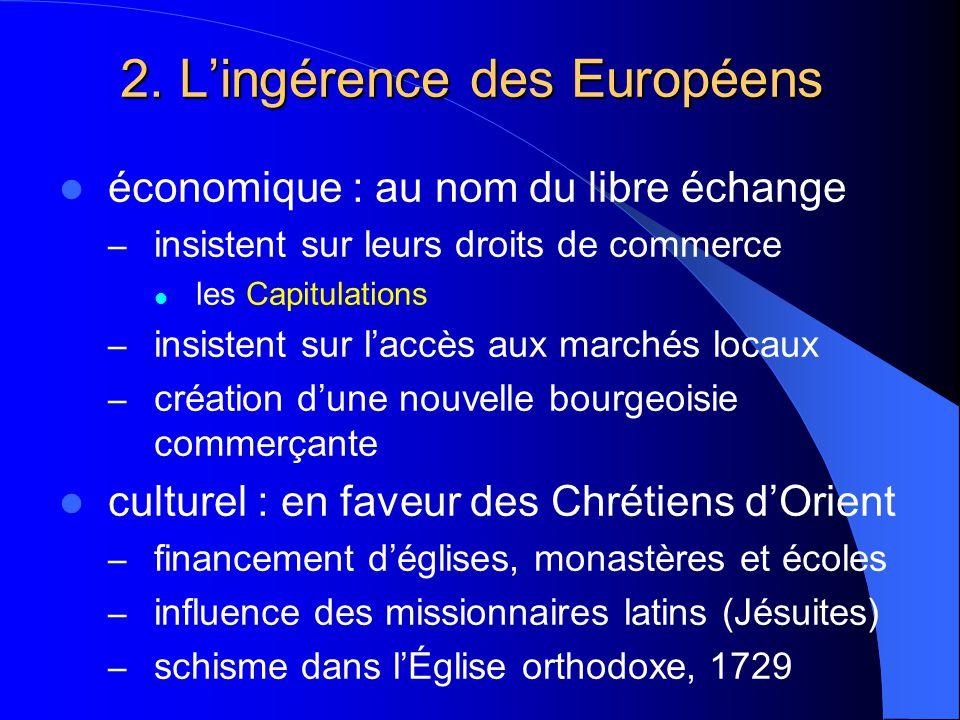 2. L'ingérence des Européens