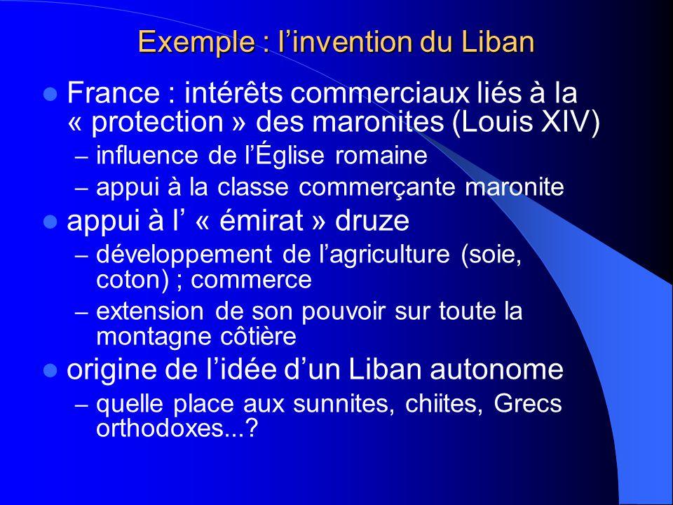 Exemple : l'invention du Liban