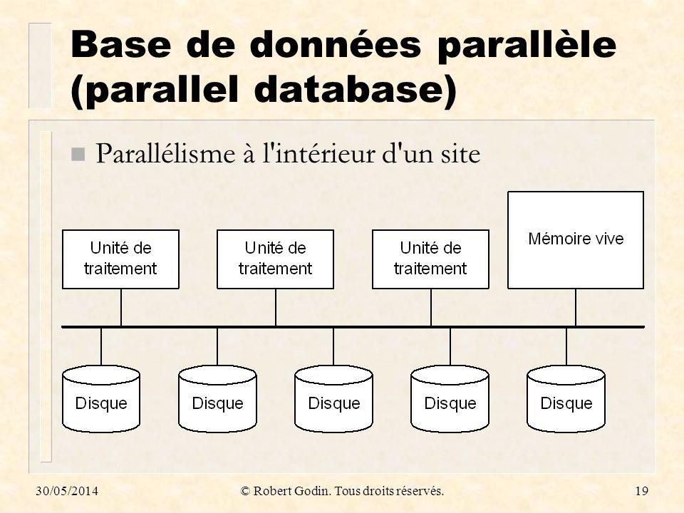 Base de données parallèle (parallel database)