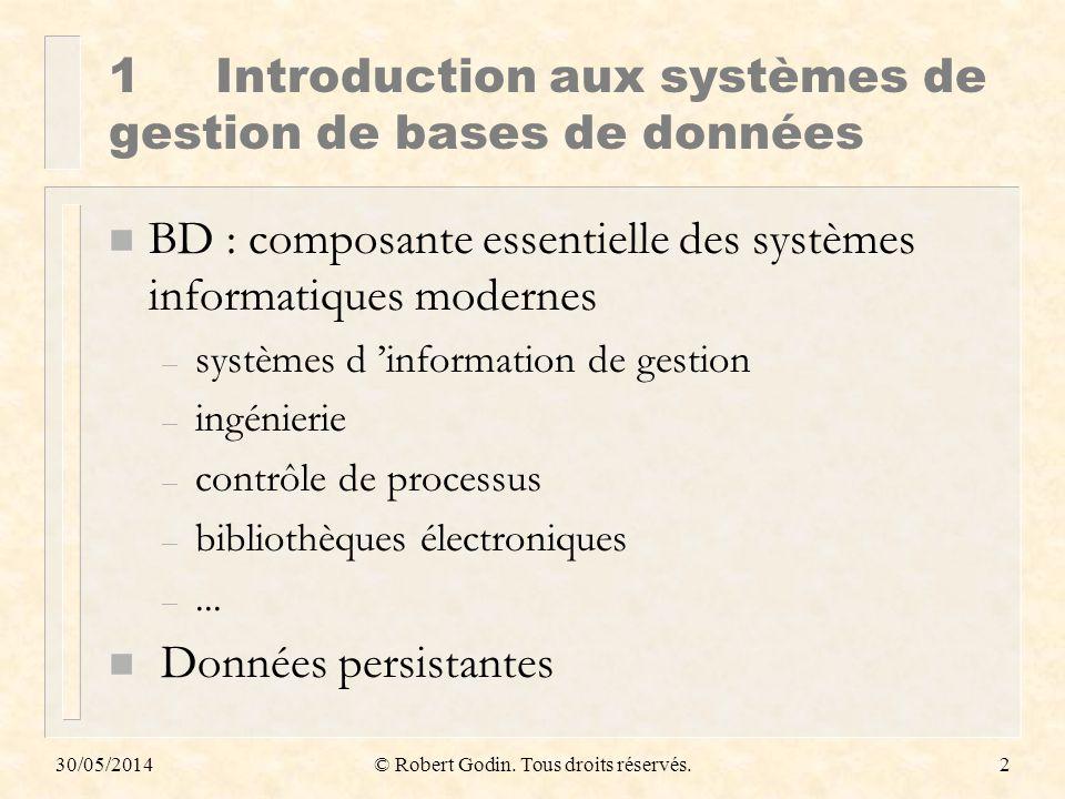 1 Introduction aux systèmes de gestion de bases de données