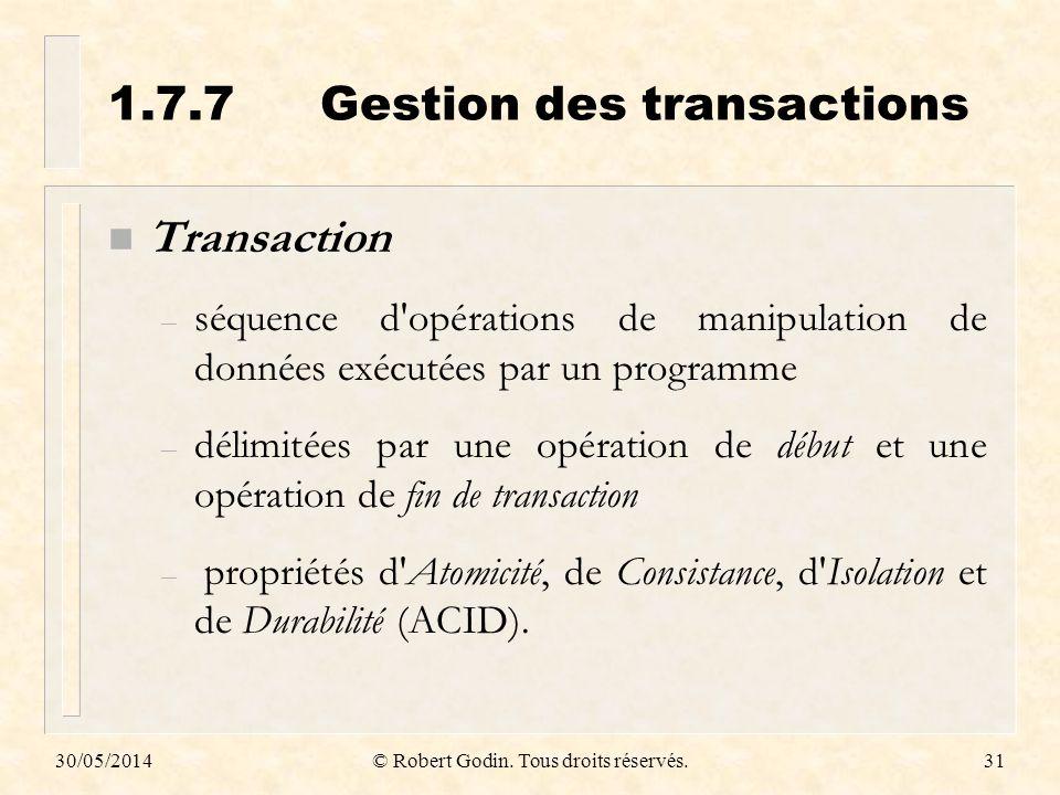 1.7.7 Gestion des transactions