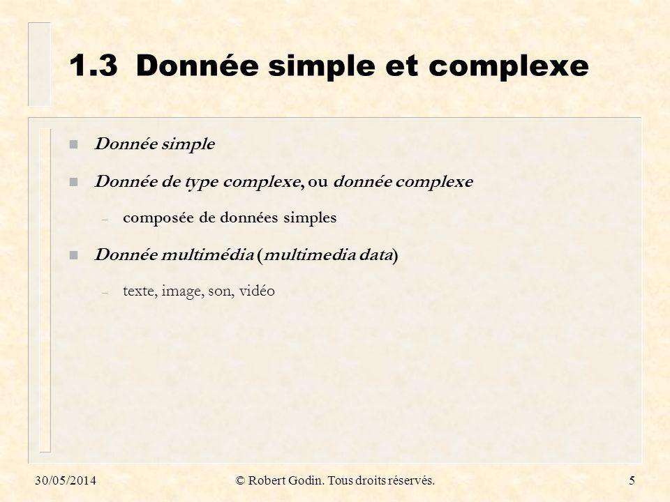 1.3 Donnée simple et complexe