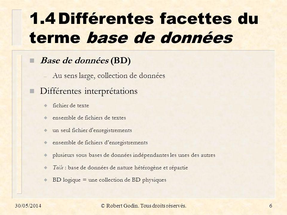 1.4 Différentes facettes du terme base de données