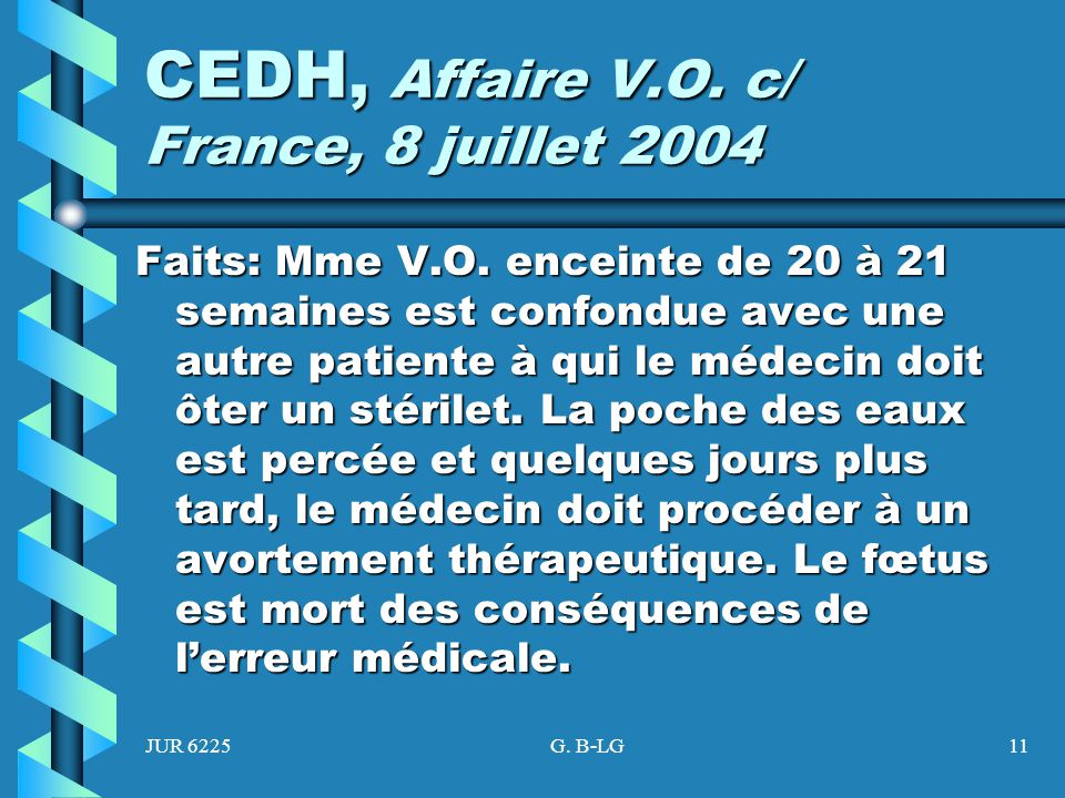 CEDH, Affaire V.O. c/ France, 8 juillet 2004