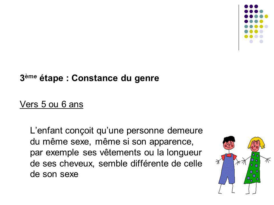 3ème étape : Constance du genre